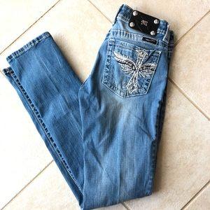 Miss Me JP5117518 Skinny Winged Cross Denim Jeans
